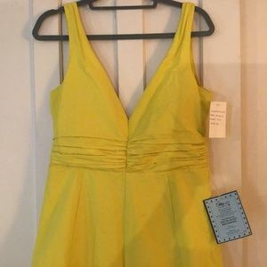 Paul Smith London, NWT, plunging yellow dress! 44